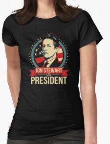 jon stewart president Womens Fitted T-Shirt