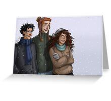 Hogwarts trio Greeting Card