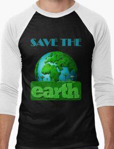Earth Day Men's Baseball ¾ T-Shirt