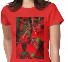 Vision In Red Womens Fitted T-Shirt