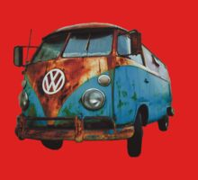 VW Bus Rusted Kids Tee