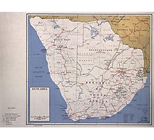 Map of South Africa (December 1961) Photographic Print