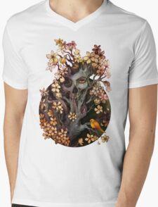 Orange Bird Mens V-Neck T-Shirt