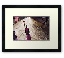 Pink Saturday Framed Print
