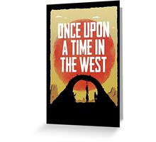Once Upon a Time in the West - Hanging Greeting Card