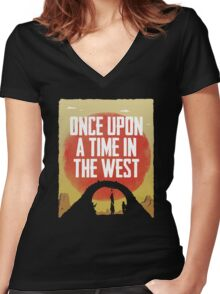 Once Upon a Time in the West - Hanging Women's Fitted V-Neck T-Shirt