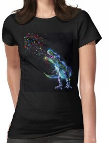 Crystal T-Rex Womens Fitted T-Shirt