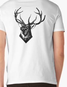 STAG, Stag Head, The Stag, Deer, Antlers, Hunt, Hunting Mens V-Neck T-Shirt
