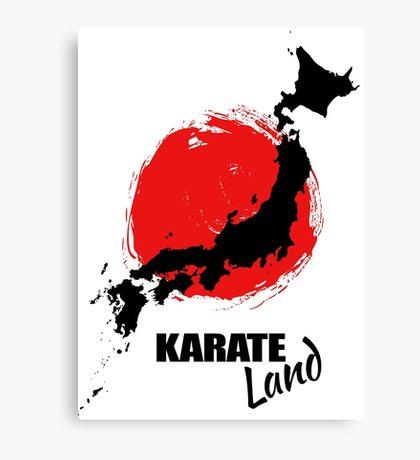 Karate Land - Japanese martial Art Canvas Print