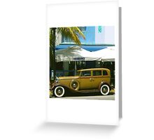 SOUTH BEACH TRANSPORTATION Greeting Card