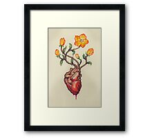 This Blossoming Bleeding Heart Framed Print