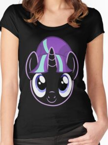 Starlight Glimmer - Head Design Women's Fitted Scoop T-Shirt