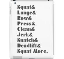 Fun Fitness Inspirational Workout Love Sport iPad Case/Skin
