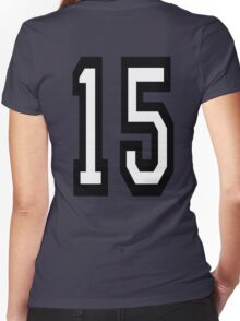 15, TEAM SPORTS, NUMBER 15, FIFTEEN, FIFTEENTH, Competition,  Women's Fitted V-Neck T-Shirt