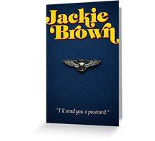 Minimalist Tarantino- Jackie Brown Greeting Card