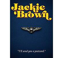 Minimalist Tarantino- Jackie Brown Photographic Print