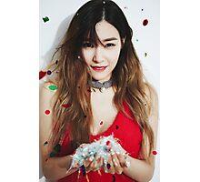 Tiffany snsd dear santa Photographic Print