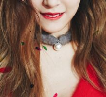 Tiffany snsd dear santa Sticker