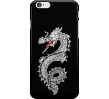 Dragon, Snake, Oriental, Far East, on Black iPhone Case/Skin