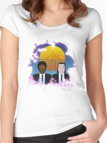 80s Inspired Pulp Fiction Women's Fitted Scoop T-Shirt