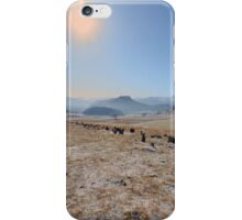 sky and mountains iPhone Case/Skin