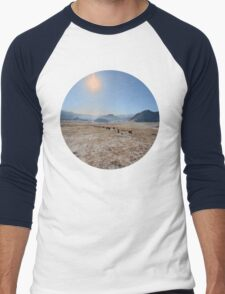 sky and mountains Men's Baseball ¾ T-Shirt