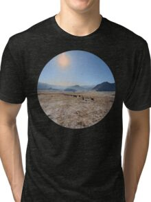 sky and mountains Tri-blend T-Shirt
