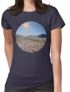 sky and mountains Womens Fitted T-Shirt