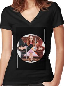 f(x) 4 dimension Women's Fitted V-Neck T-Shirt