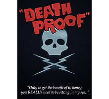 Minimalist Tarantino- Death Proof Photographic Print