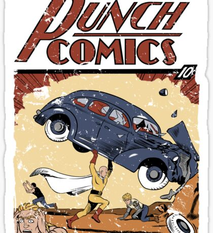 Punch Comics Sticker