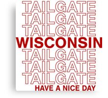 Wisco Tailgate Canvas Print