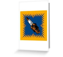 Sparkplug - blue & yellow Greeting Card