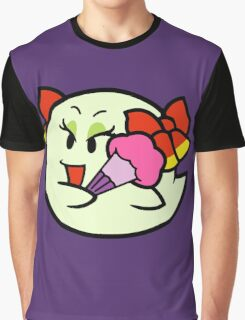Paper Mario Lady Bow Boo Graphic T-Shirt