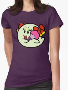 Paper Mario Lady Bow Boo Womens Fitted T-Shirt