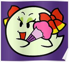 Paper Mario Lady Bow Boo Poster