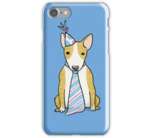 Party Hat Puppy Dog - English Bull Terrier iPhone Case/Skin
