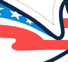 Patriotic Whale Sticker