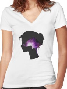 The Doxie Within Women's Fitted V-Neck T-Shirt