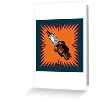 Sparkplug - dark turquoise Greeting Card