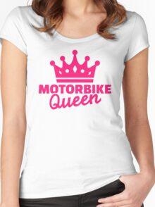 Motorbike queen Women's Fitted Scoop T-Shirt