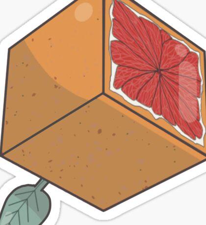 Fruit Dice, D6 blood orange variant Sticker