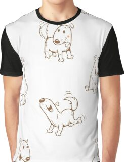Pattern with dogs. Graphic T-Shirt