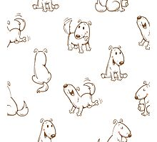 Pattern with dogs. Photographic Print
