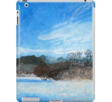 Blue Landscape Acrylic Painting iPad Case/Skin