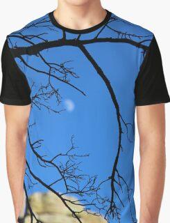 Moon behind branches. Chiricahua Mountains, Arizona, USA. Graphic T-Shirt