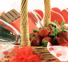 Happy Valentines Day Basket Sticker