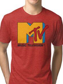 MTV 90's Logo Tri-blend T-Shirt