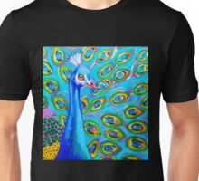 Am I Blue Peacock by Susi Franco Unisex T-Shirt