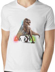Ark T-rex Mens V-Neck T-Shirt